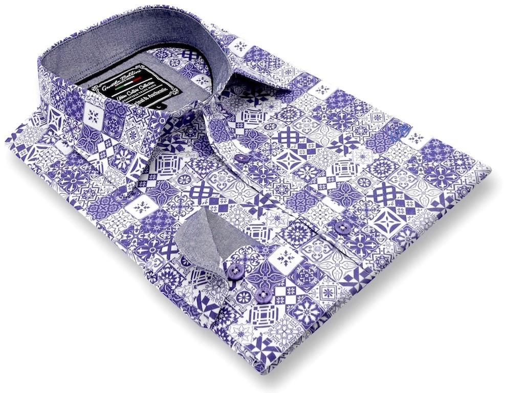 Heren Overhemd - Zaragon Mosaic - Wit-3