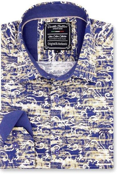Heren Overhemd - Art Of Ornament - Blauw