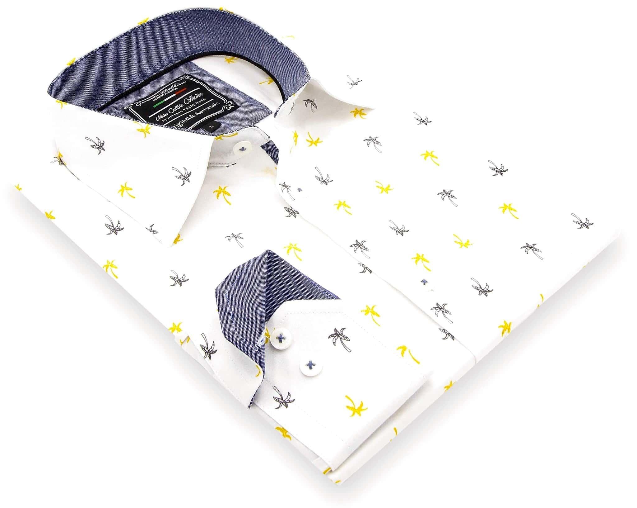 Heren Overhemd - Palm Island - Wit-3