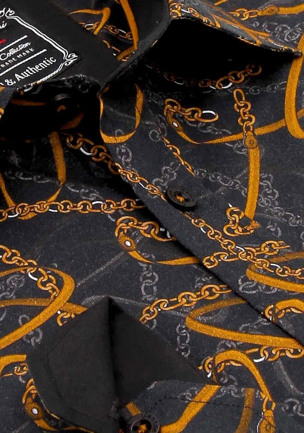 Heren Overhemd - High Society - Zwart-2