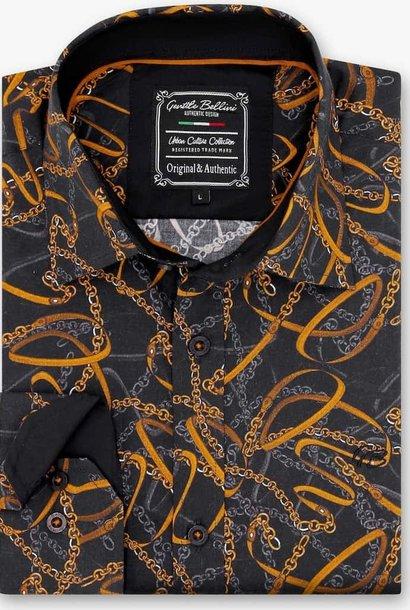Heren Overhemd - High Society - Zwart