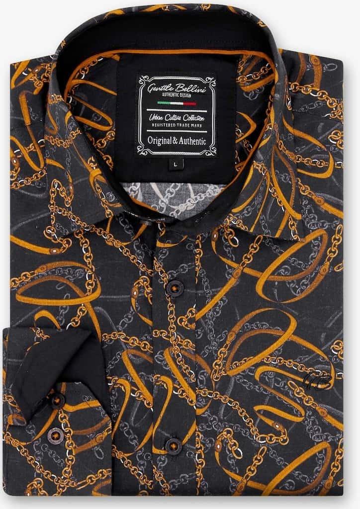 Heren Overhemd - High Society - Zwart-1