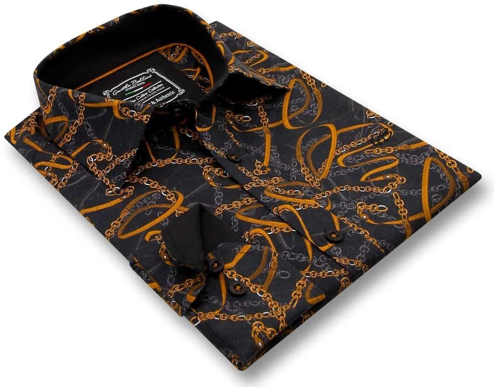 Heren Overhemd - High Society - Zwart-3