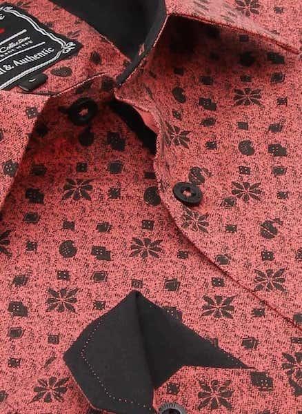 Heren Overhemd - Classy Ornaments - Zalmroze-2