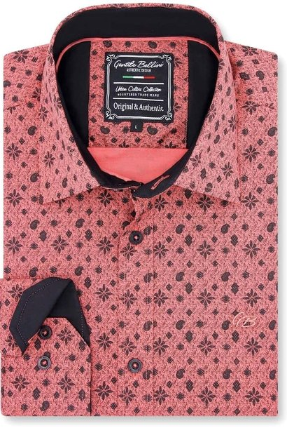 Heren Overhemd - Classy Ornaments - Zalmroze