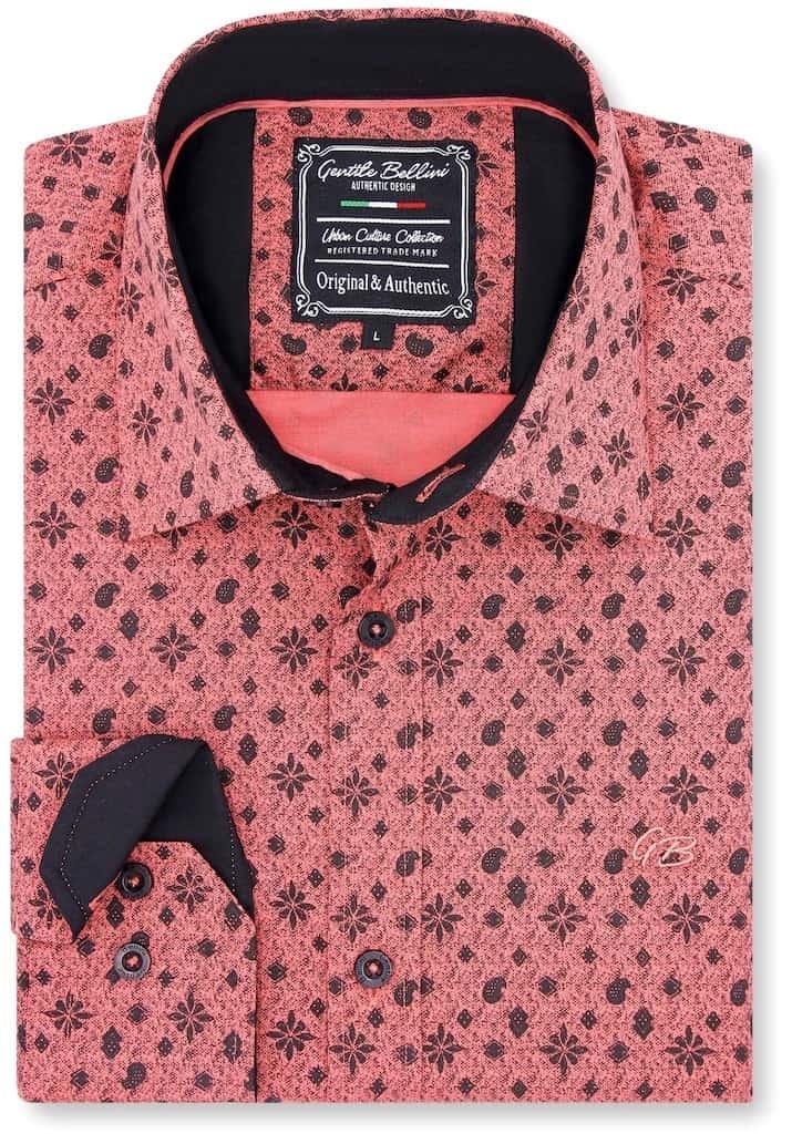 Heren Overhemd - Classy Ornaments - Zalmroze-1