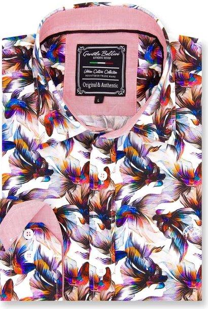 Heren Overhemd - World Of Kempfish - Wit