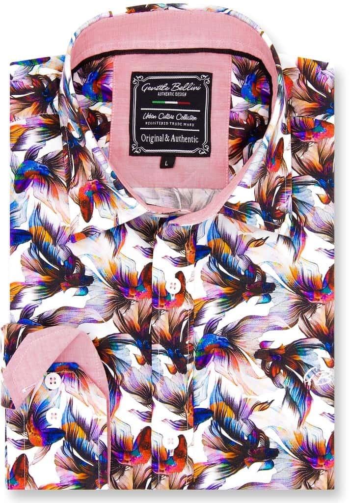 Heren Overhemd - World Of Kempfish - Wit-1