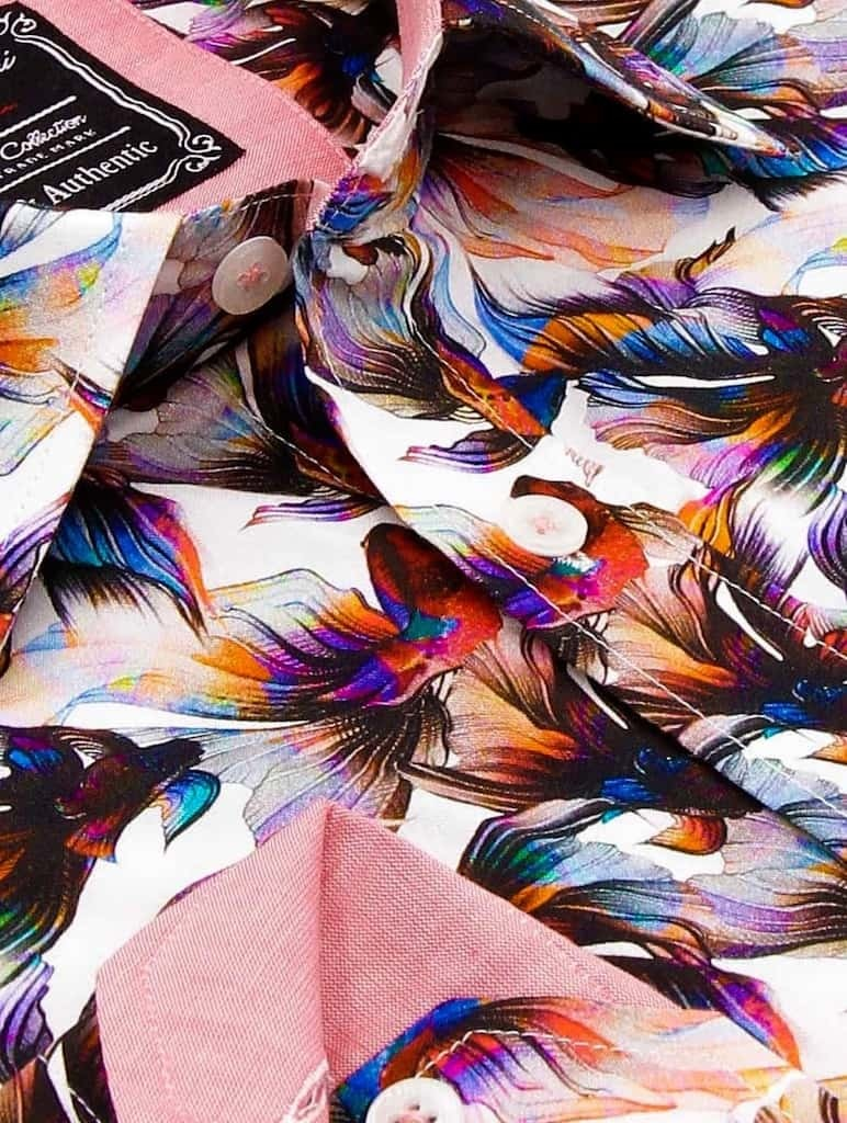 Heren Overhemd - World Of Kempfish - Wit-2