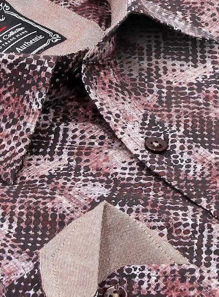 Heren Overhemd - Reptile Skin - Bordeaux-2