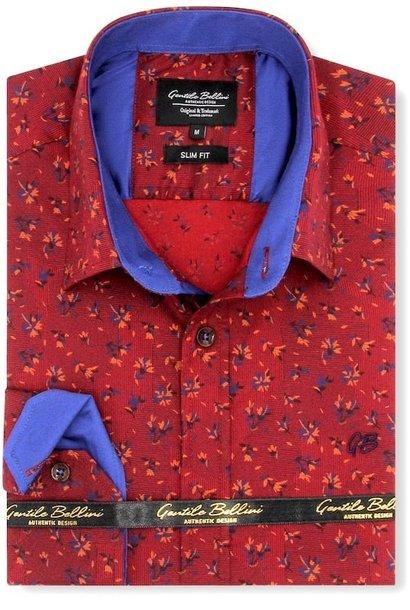 Heren Overhemd - Stock Flower - Rood