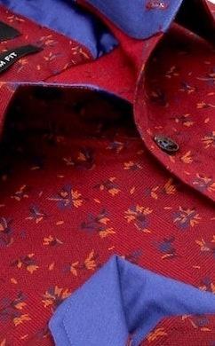 Heren Overhemd - Stock Flower - Rood-2