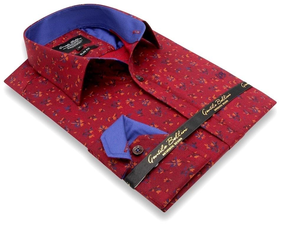 Heren Overhemd - Stock Flower - Rood-3