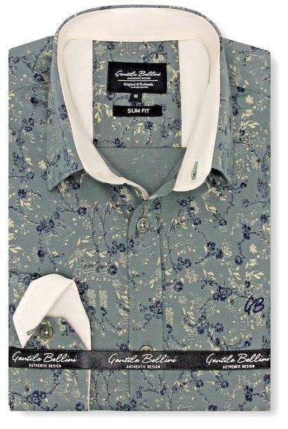 Heren Overhemd - Twin Orchids - Groen