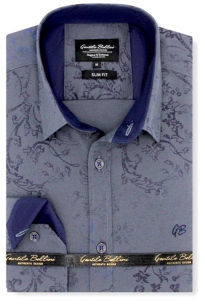 Heren Overhemd - Baroque Motif - Grijs