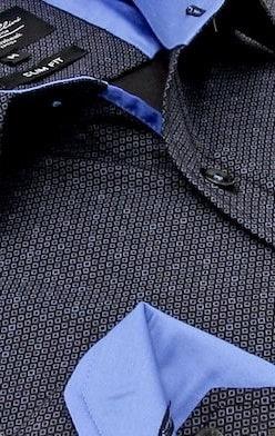 Heren Overhemd - Circle Dots - Zwart-2