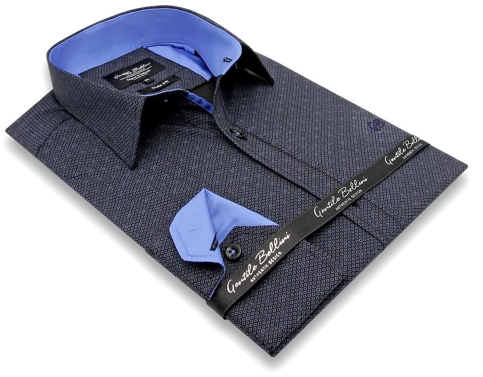 Heren Overhemd - Circle Dots - Zwart-3