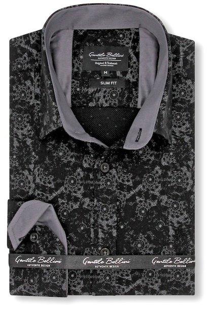 Heren Overhemd - Geometric universe - Zwart