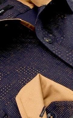 Heren Overhemd - Geometric Dots - Blauw-2