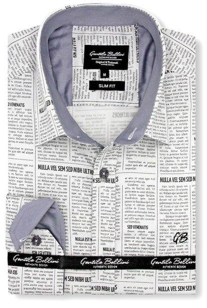 Heren Overhemd - Daily Paper Satin - Beige
