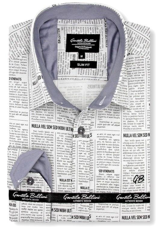 Heren Overhemd - Daily Paper Satin - Beige-1
