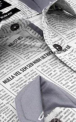 Heren Overhemd - Daily Paper Satin - Beige-2