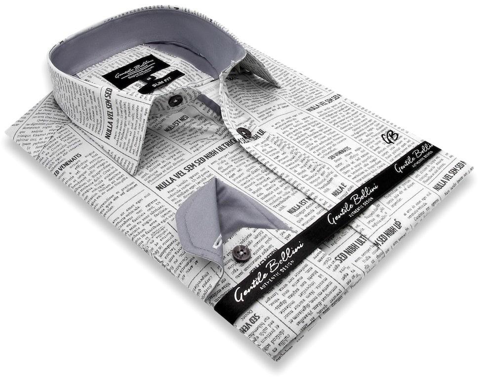 Heren Overhemd - Daily Paper Satin - Beige-3