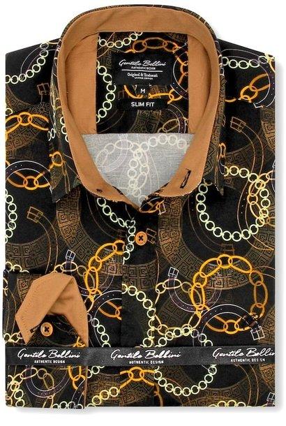 Heren Overhemd - Luxury Society Satin - Zwart