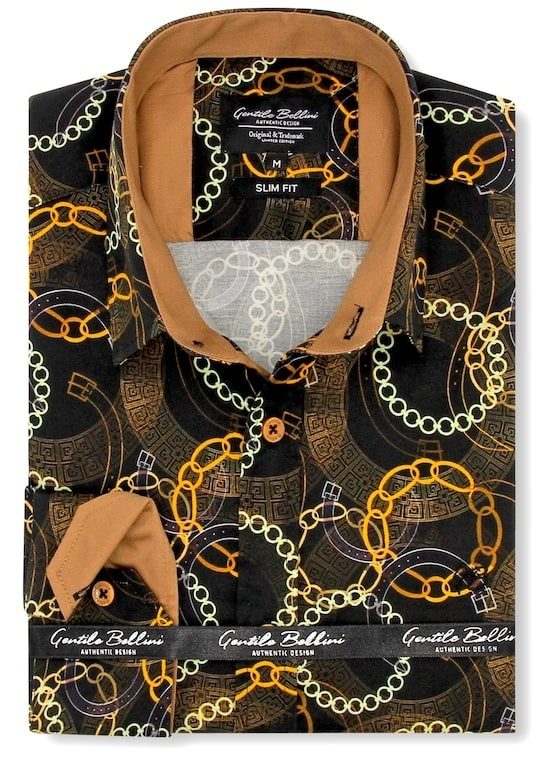 Heren Overhemd - Luxury Society Satin - Zwart-1