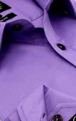 Heren Overhemd - Luxury Plain Satin - Paars-2