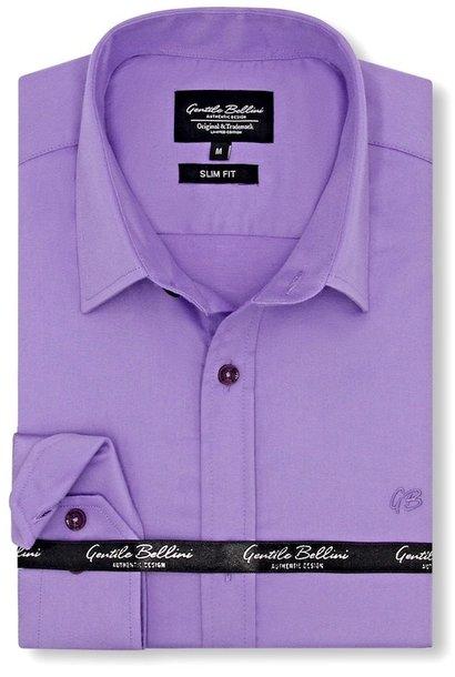 Heren Overhemd - Luxury Plain Satin - Paars