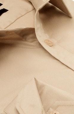 Heren Overhemd - Luxury Plain Satin - Beige-2