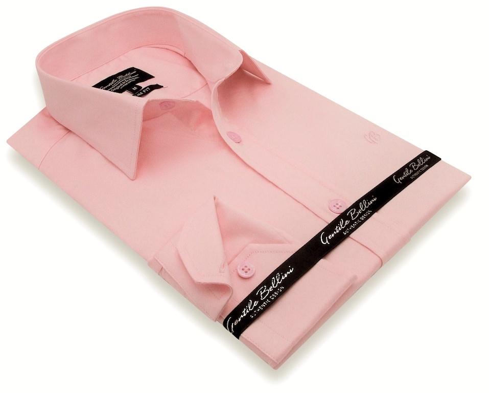 Heren Overhemd - Luxury Plain Satin - Roze-3