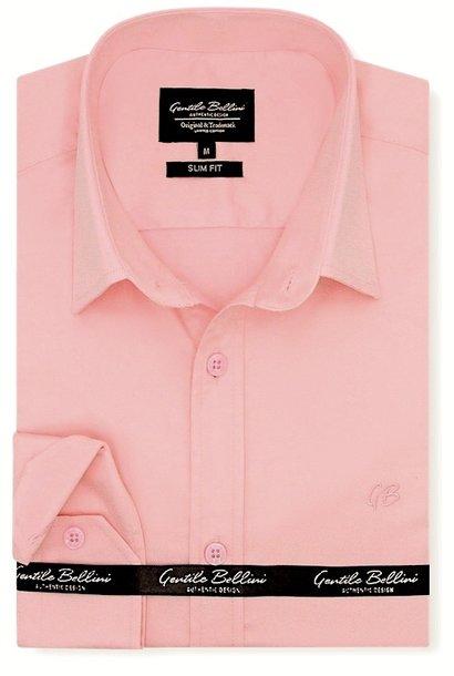 Heren Overhemd - Luxury Plain Satin - Roze