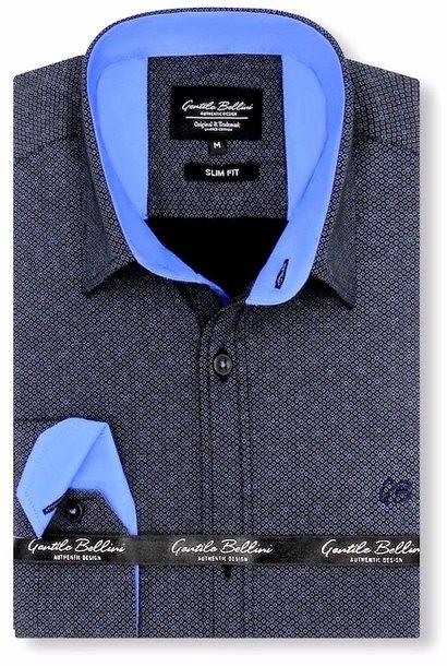 Heren Overhemd - Circle Dots - Zwart