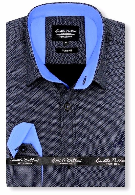 Heren Overhemd - Circle Dots - Zwart-1