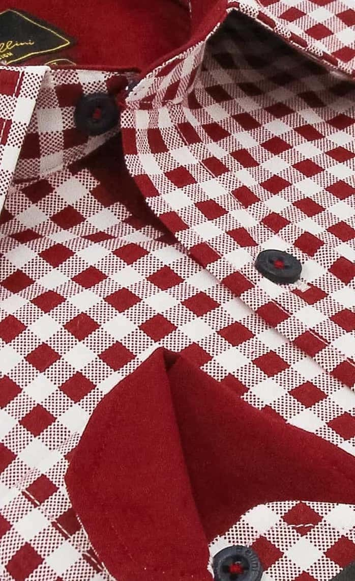 Heren Overhemd - Boerenruit - Wit-2
