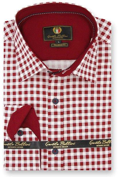 Heren Overhemd - Boerenruit - Wit