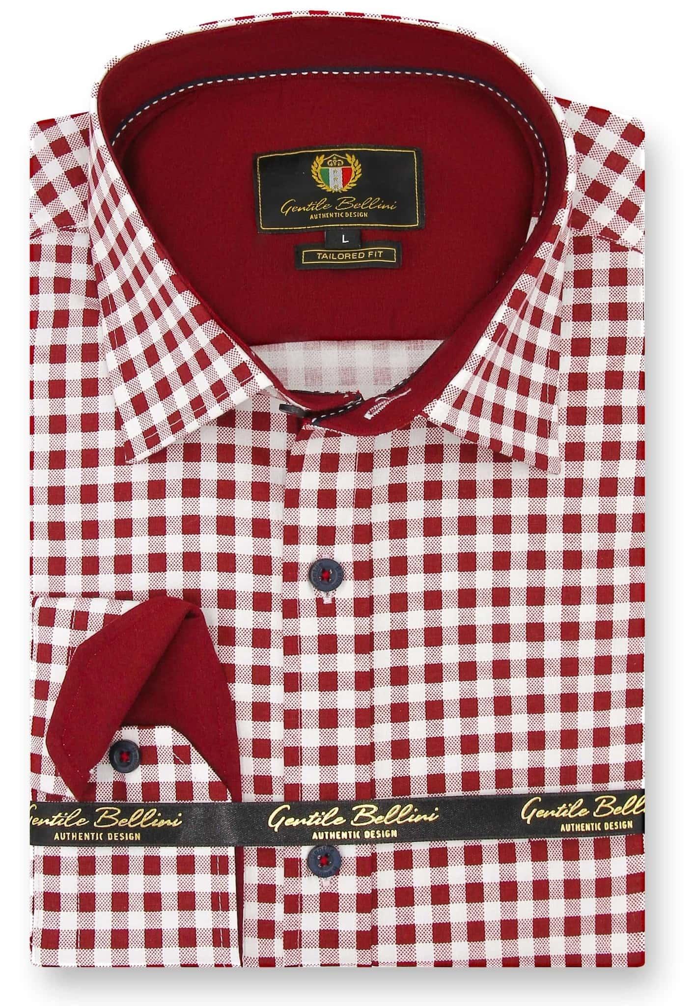 Heren Overhemd - Boerenruit - Wit-1