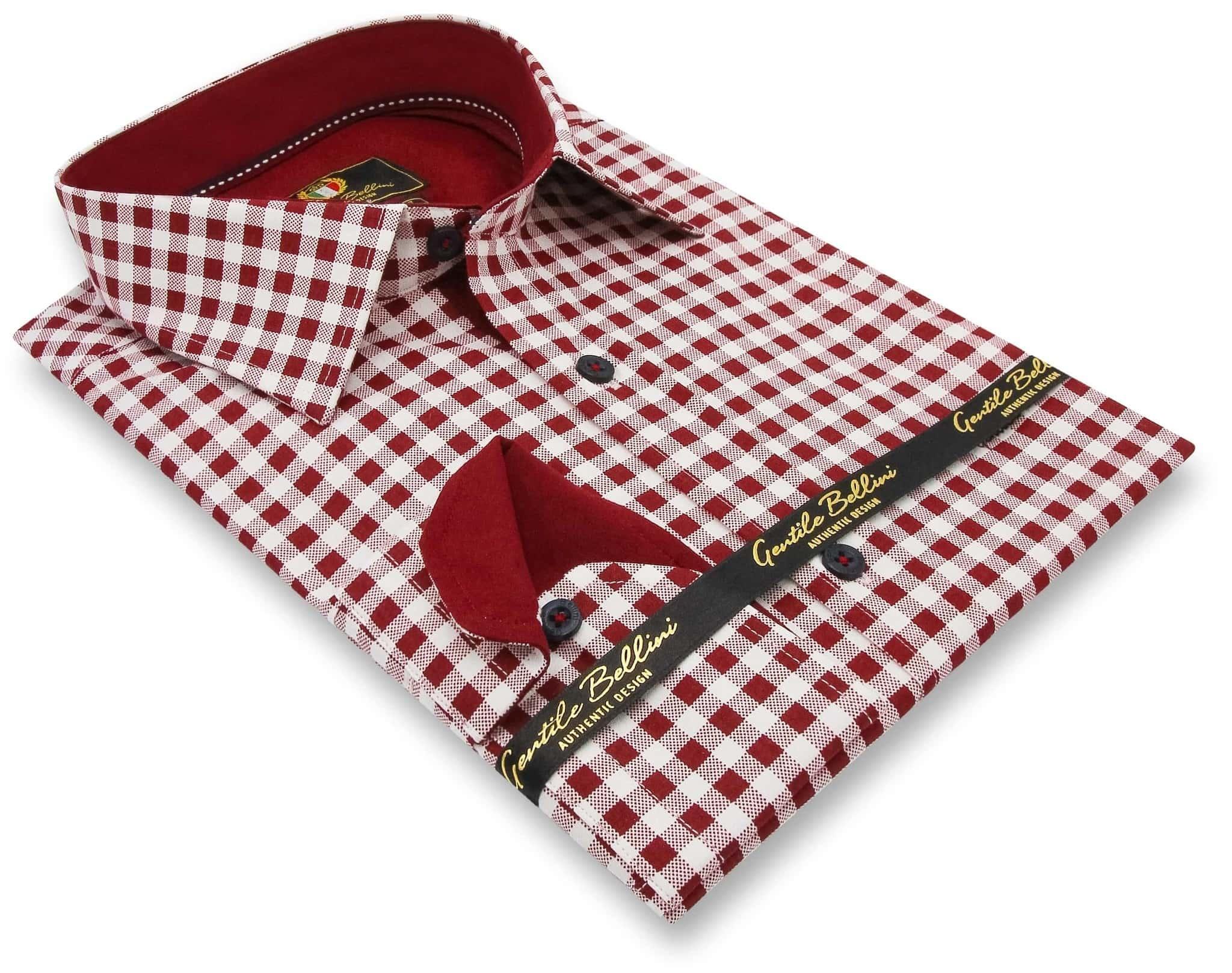 Heren Overhemd - Boerenruit - Wit-3