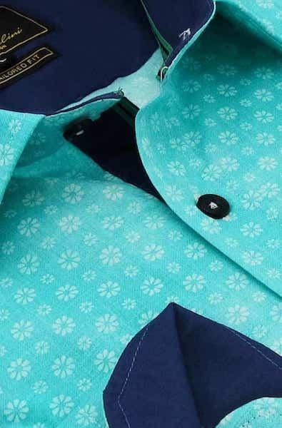 Heren Overhemd - Bellis Perennis - Turquoise-2