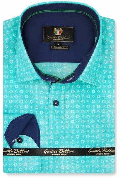 Heren Overhemd - Bellis Perennis - Turquoise