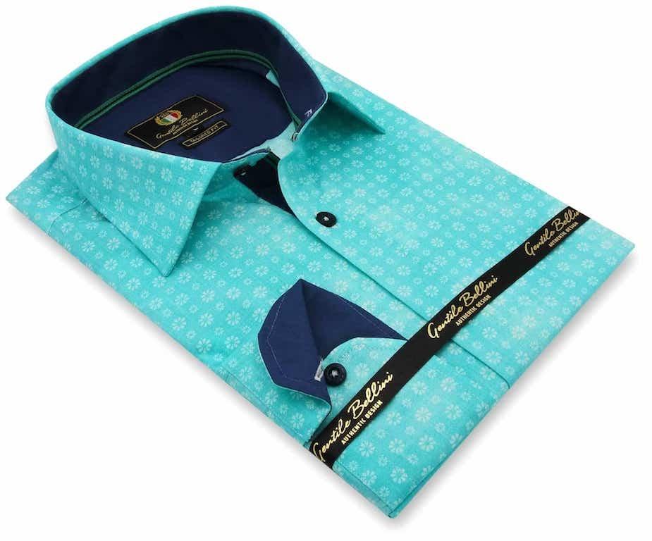 Heren Overhemd - Bellis Perennis - Turquoise-3