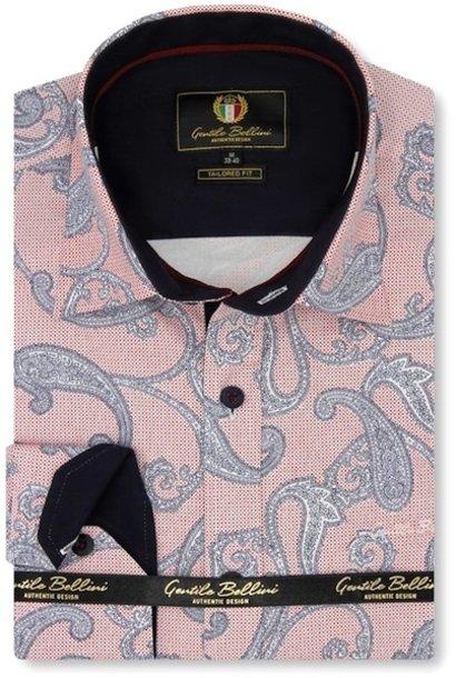 Heren Overhemd - Paisley Premium - Roze