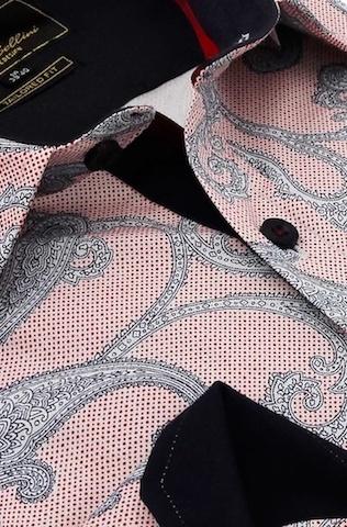 Heren Overhemd - Paisley Premium - Roze-2