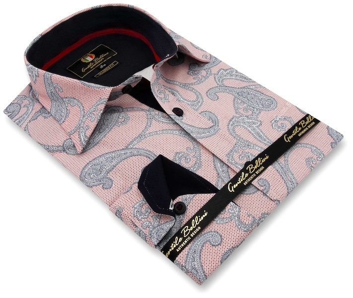 Heren Overhemd - Paisley Premium - Roze-3