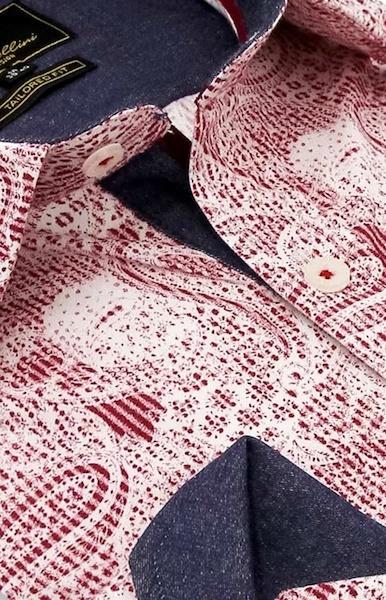 Heren Overhemd - Paisley Kashmir - Rood-2