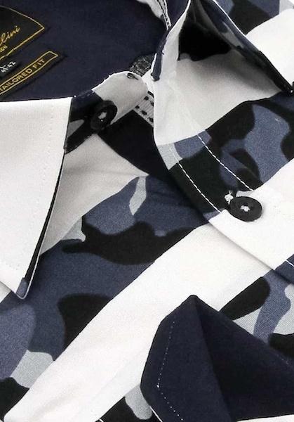 Heren Overhemd - Stripe Camo - Wit-2