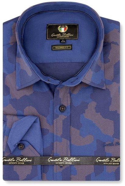 Heren Overhemd - Art Of Camouflage - Blauw