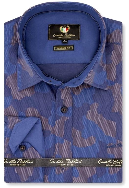 Heren Overhemd - Art Of Camouflage - Blauw-1